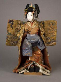 "Play Doll: Mitsuore Oiran Courtesan, Edo Period 19th Century, 15"" tall Hannig Collection"