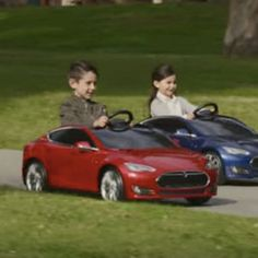 Tesla's Model S electric car built for kids @darwinsnews #darwin