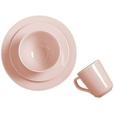 Real Simple® Tea Rose Dinnerware Collection in Pink ($25) ❤ liked on Polyvore featuring home and kitchen & dining