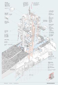 Image 20 of 81. RIBA Silver Medal: Nick Elias (Bartlett School of Architecture). Image Courtesy of RIBA