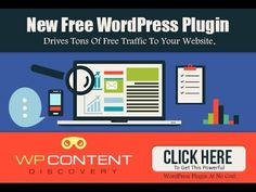 Get Free Website Traffic With WP Content Discovery WordPress Plugin https://www.youtube.com/watch?v=I-JWeC1sRcw