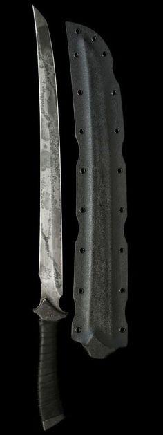 The Zakasushi Japanese Wakizashi Fixed Combat Blade Knife Sword by Zombie Tools Aegis Gears www.zombietools.n...