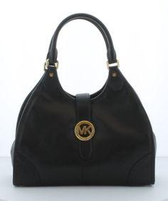 Wadulifashions Michael Kors Hudson Women's Large Shoulder Tote Handbag Bag Black Leather - http://clothing.wadulifashions.com/wadulifashions-michael-kors-hudson-womens-large-shoulder-tote-handbag-bag-black-leather/