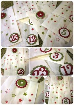 #stampin up - Adventskalender aus Butterbrottüten - Junior ABC - Weihnachten/ Christmas