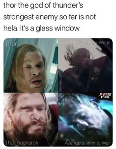 He's hit a glass window in all of his movies including Avengers Infinity War