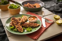 Cooking with Grains - Red Quinoa-Crusted Chicken Strips
