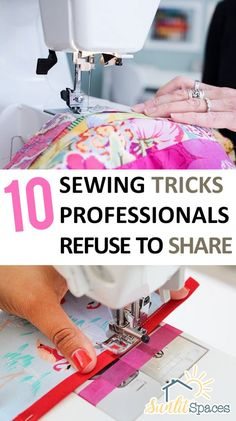 sewing techniques couture Sewing tips and tricks from professional seamstresses. - Sewing tips and tricks from professional seamstresses. Sewing Hacks, Sewing Tutorials, Sewing Crafts, Sewing Tips, Sewing Ideas, Sewing Basics, Sewing Lessons, Basic Sewing, Diy Crafts