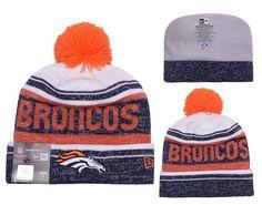 Men s   Women s Denver Broncos New Era 2016 NFL Snow Dayz Knit Pom Pom Beanie  Hat 9160c830c8f6