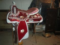 California Tack - Western Saddles For Sale - Rhinestone Crystal Beaded Parade Saddles