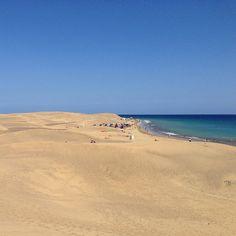 Playa de Maspalomas nel San Bartolomé de Tirajana, Canarias