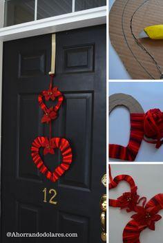 Manualidades sencillas san valent n 26 d a de los for Decoracion de puertas de san valentin