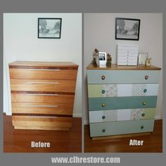 Retro patchwork drawers