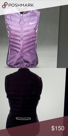 Nike down 800 aeroloft run lightweight vest Nwt Purple  (sL) Nike Jackets & Coats Vests