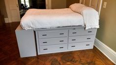 How to build a dresser platform bed from scratch, Page 1
