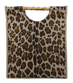 #ShopBAZAAR - Charlotte Olympia Canvas Leopard Tote