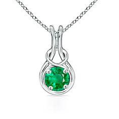 Angara's Infiniti Emerald Necklace- Infinity symbol is healing