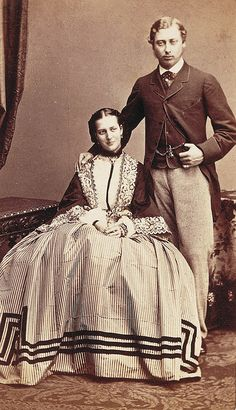 King Edward VII and Princess Alexandra of Denmark  Married: 10 March 1863 at St George's Chapel, Windsor Castle