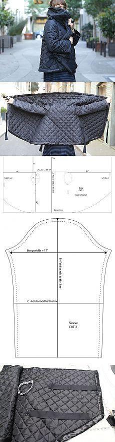 Стеганный прямоугольный жакет (выкройка, Diy) / Простые выкройки / ВТОРАЯ УЛИЦА