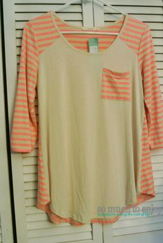 Le Lis Stanley Striped Raglan Top - Stitch Fix Review May 2015 somuchtoenjoy.com