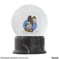 Cute mouse cartoon snow globes