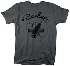 Shirts By Sarah Men's Barber Shirts Hair Clippers T-Shirt For Barbers