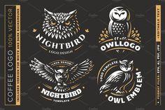 Owl logo set by SODESIGN on @creativemarket