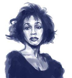 Whitney Houston fan art