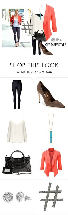 """""""Untitled #209"""" by love-dlv ❤ liked on Polyvore featuring Manolo Blahnik, Raey, Jennifer Meyer Jewelry, Balenciaga, H.Azeem and Lanvin"""