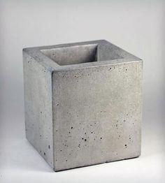Square Concrete Container $40