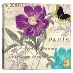 Canvas print with a flower theme.   Product: Wall artConstruction Material: Cotton canvas and woodFeatures...