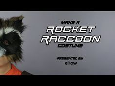 Rocket Raccoon from Guardians of The Galaxy is our new favorite hero! DIY this costume by watching our how-to. #Costumepinspiration