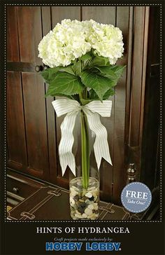 Brighten up your space with this hydrangea arrangement that is fun and easy to make.