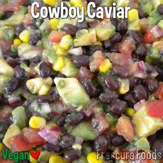 Cowboy Caviar  #vegan #vegetarian #plantbased •black beans, corn, tomato, avocado, red onion, cilantro, jalapeno, red wine vinegar, lime juice, olive oil...follow link for complete recipe