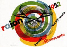Max Huber, advertising poster for Italian department store, la Rinascente, 1955.