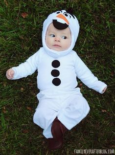 Family Ever After....: Easy Olaf Costume