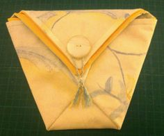 Tutorial – Origami Folded Fabric Pouch | Little By Little By Bossymamma