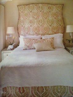 Osborne & Little headboard and bedskirt Coastal Living magazine