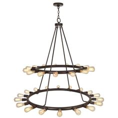 Crystorama Lighting Group Dakota Charcoal Bronze 33 Light Chandelier On SALE