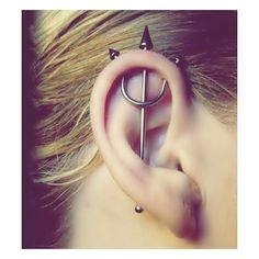 50 Beautiful Ear Piercings ❤ liked on Polyvore featuring jewelry, earrings, piercings and earring jewelry