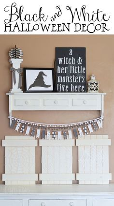 DIY Black and White Halloween Decor