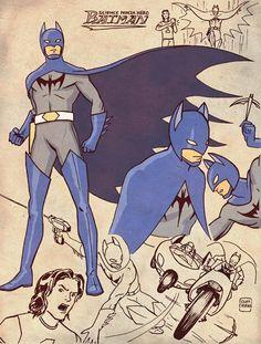 Batman estilo japonés