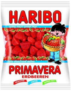 Haribo Strawberry gummies