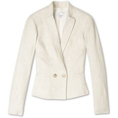 See by Chloé Heavy Linen Twill Blazer ($594) ❤ liked on Polyvore