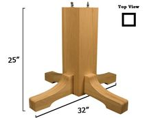 Mission Pedestal Kit: Includes Center And Base. Perfect DIY Table Solution!
