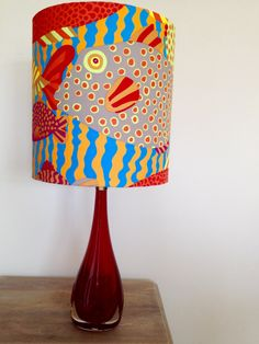 Handmade Tropical Reef Fish Print Lampshade 30cm W, 32cm L - Fabric Designed by Kaffe Fassett - Vibrant Colours by SilverWhippet on Etsy