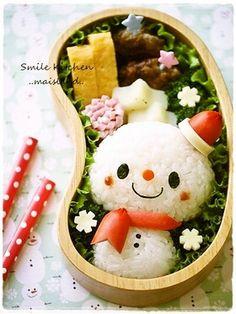 Cute snowman bento