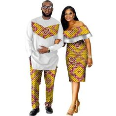 African Style Clothing Family Couple Man Shirt-Pnts Woman Dress Dashiki - furniture world African Fashion Designers, African Print Fashion, Africa Fashion, African Fashion Dresses, Fashion Outfits, Fashion Styles, Fashion Ideas, African Dresses For Women, Womens Fashion