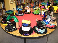 """Hats off to Science"" Love this vocabulary idea. Hat parade with each kid decorating their own vocabulary hat as an assessment. Now to get the hats donated"
