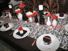 Farewell Dinner Party {Black, White & Red}