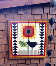 New Ideas For Yard Art Patterns Barn Quilts Barn Quilt Designs, Barn Quilt Patterns, Quilting Designs, Block Patterns, Art Patterns, Sunflower Quilts, Painted Barn Quilts, Barn Signs, Barn Art